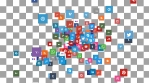 SOCIAL NETWORK ICONS LOOP 3 + Alpha Channel