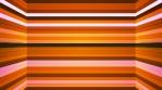 Broadcast Twinkling Horizontal Hi-Tech Bars Shaft, Orange, Abstract, Loopable, 4K