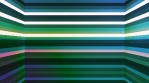 Broadcast Twinkling Horizontal Hi-Tech Bars Shaft, Green, Abstract, Loopable, 4K