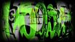 Dark Acid Green Graffiti Mix