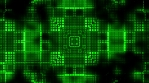 Squares geometric pulse animated VJ looping green CG background