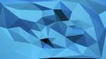 Looping Low Poly Style Background, blue