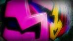 Graffiti of 4 letters Glow