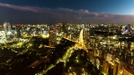 Tokyo Tower Time Lapse View of Traffic 012 4k