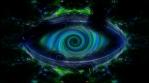 Vertigo swirl sci-fi eye, abstract video art