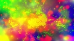 Cosmic color pop animated particles abstract CG looping animated backdrop