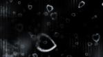 Falling hearts grunge blue gray black texture animated looping CG backdrop