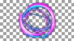 Glowing circular looping 3D geometric shape
