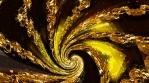 Gold Spiral 4K Vj Loop 02