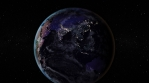 Night side of the Earth with city lights. Zoom in Asia countries. Elements of this image furnished by NASA