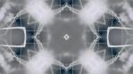 kaleidoscope loop white grey analog flower and shapes 002
