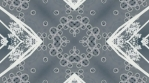 kaleidoscope loop white grey analog flower and shapes 010