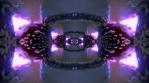 Amanita magic mushroom infinite zoom psychedelic glowing corridor