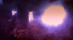 Huge amanita magic mushrooms psychedelic haze abstract 4k