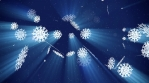 Smaller Falling Snowflakes with Light Rays against Dark Sky V2 Loop