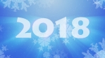 2018 Happy New Year Greeting Animated Seamless Loop
