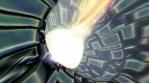 Futuristic tunnel background. Sci-fi seamless 4k animation.