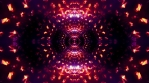 Moprhing psychedelic mandala abstract zoom, dark glowing lights