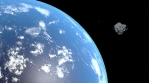 Asteroid Passing Planet Earth