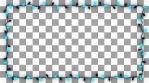 Christsmas Light Frame Garland Bulb - Red Blue Pulse