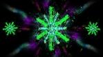 Bright Crystal Snowflakes 4K Vj Loop 03