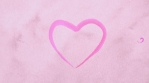 Hearts, painted in pink watercolor appear one after another, and then disappear. Carton paper texture watercolor hearts shape draw.