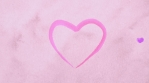 Watercolor lilac pink purple hearts appearing at carton paper like drawing of artists. Heartbeat bounce motion. Animation of hearts for Valentine Day or wedding. Loopable.