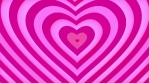 Gently pink heart shape is looped up. Love and Valentines Day concept. Seamless loop.