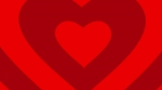 Red hearts shape animation seamless loop.