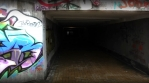 Graffiti Between Tunnels