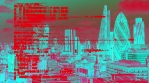 Computer Glitch Distortion Technology London Skyline Urban City
