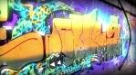 Angry Shark and Girl Graffities Glow