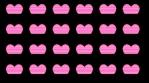 Retro Glowing hearts beat wall