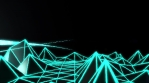 Low Poly World VJ Loop - Neon Mix V2 - Green