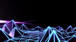 Low Poly World VJ Loop - Neon Mix V2 - Retro Futur Purple