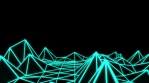 Low Poly World VJ Loop - Solo Neon V1 - Green