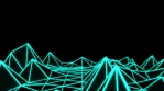 Low Poly World VJ Loop - Solo Neon V2 - Green