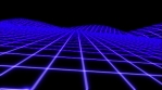 Retro Futuristic grid landscape seamless background.
