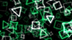 Geometric Particles 01 Green White