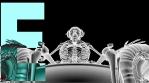 Boss skeleton on the armchair