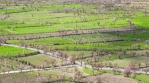 Passing cloud shadows over fertile orchard farmland, Andalucia Spain time lapse