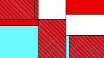 MONDRIAN RED WHITE TURQUOISE