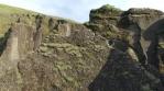 Fjadragljufur glacial river canyon Iceland rock arch, panning shot drone aerial