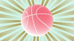 Basketball color two retro looping animated background