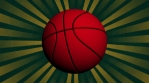 Basketball retro animated looping background
