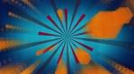 Shape retro animated red orange and blue looping fun background