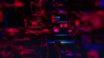 Cyber Tech Digital Background - Front View - DOF - Purple Pink