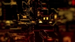 Cyber Tech Digital Background - Front View - DOF - Red Gold