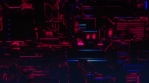 Cyber Tech Digital Background - Front View - Purple Pink