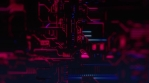 Cyber Tech Digital Background - Front View zoom out - DOF - Purple Pink